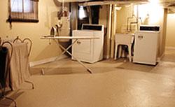 basement room after staging