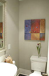 powder room after staging