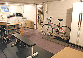 basement after house staging