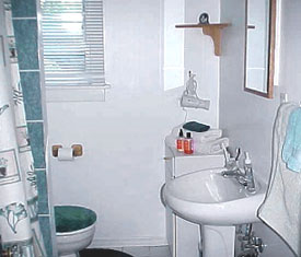 bathroom before staging