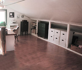 home office after staging