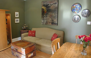 family room after staging