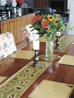 custom table runners by Debra Gould