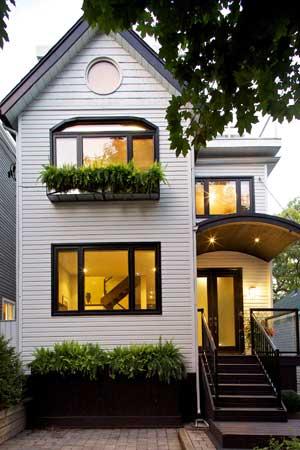 real estate listing photo shot at dusk